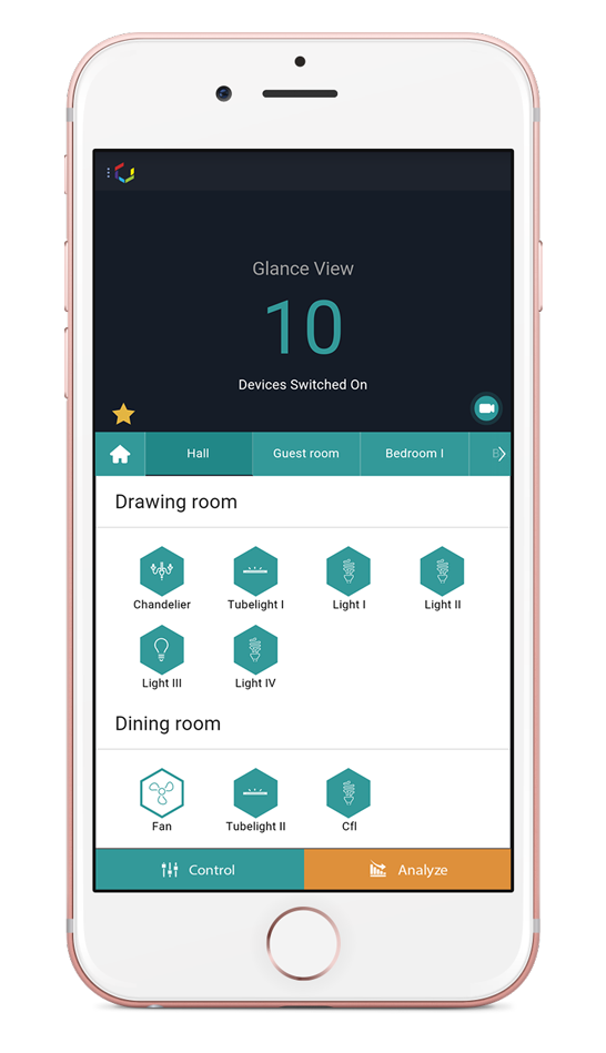 Smartphone Home Control cubical labs - home automation india